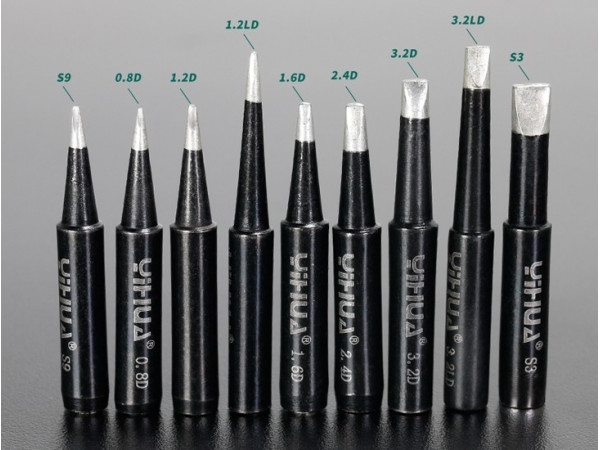 Black Soldering Tips- Chisel type