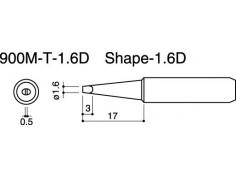 900M-T-1.6D Soldering Tip