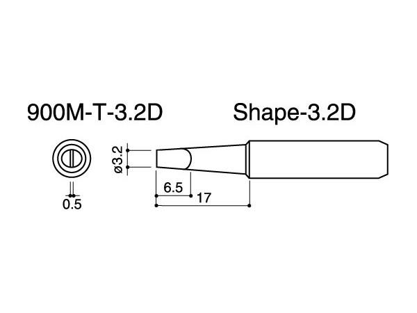 900M-T-3.2D Soldering Tip