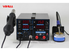 Yihua 853D 1A 3in1 jootekolb, kuum õhk ja toiteplokk