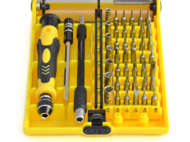 Mini screwdriver tool set, 33pc with tweezers