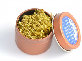 Tip Cleaner with Rosin and Brass Wool