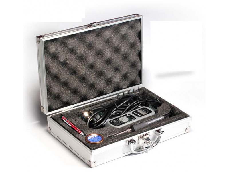 908d Portable Soldering Iron With Aluminium Case Baumtronics